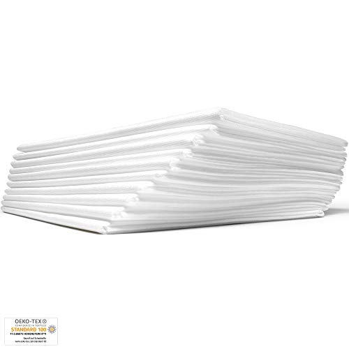 Dr. Güstel Waschfaserlaken® ACTIV 10 Stk+2 GRATIS 80x210cm weiß oeko-tex® Vlieslaken Auflage für Behandlungsliege