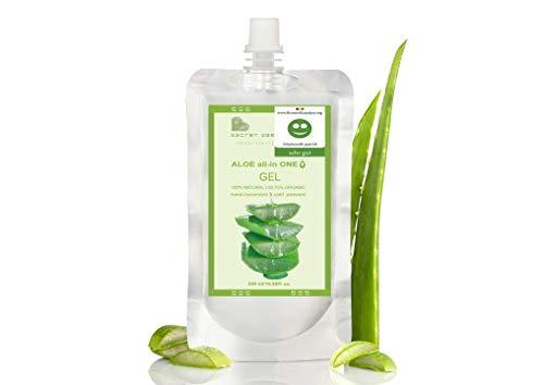 Aloe Vera Bio Gel Nachfüllung 500 ml | KOSMETIKANALYSE: SEHR GUT | All in-one Gel | für Gesicht, Körper & Haare | Premium Qualität | Aloe Plus Secret Essentials
