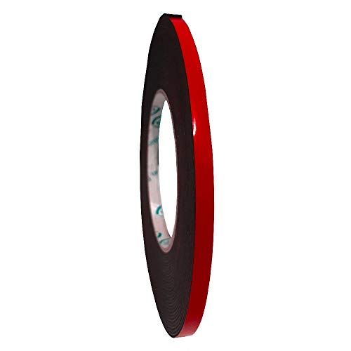 Snifu 作業用 PE超強力スポンジ 両面テープ 超強力 厚手 強粘着テープ 耐熱性 防水 粗面素材用 多用途 屋内/屋外用/車用/広告用/家庭用 (幅6mm長さ10m厚み1mm)