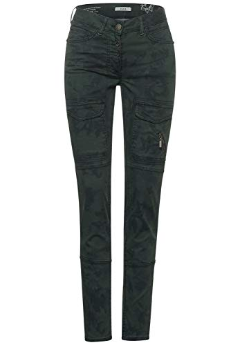 Cecil Damen Cargo-Hose mit Tarnfarben Soft Khaki 29 Schmale Passform, Mittlere Leibhöhe, Slim Leg, Cargohose, Pants Style Vicky