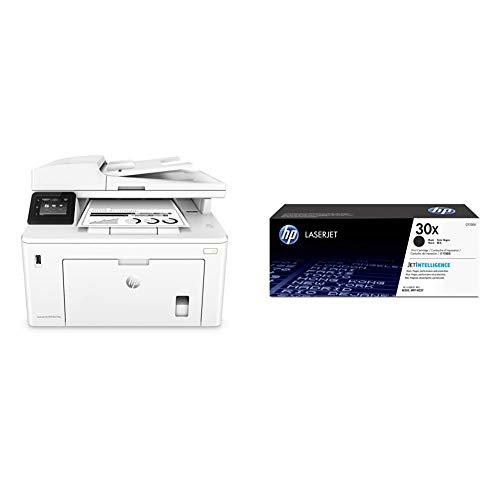 HP Laserjet Pro MFP M227fdw Impresora láser multifunción, Monocromo, Wi-Fi, Ethernet (G3Q75A) + 30X CF230X, Negro, Cartucho Tóner de Alta Capacidad Original, de 3.500 páginas
