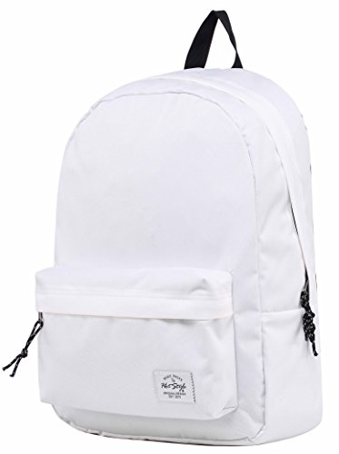 HotStyle SIMPLAY Classic School Backpack Bookbag, White