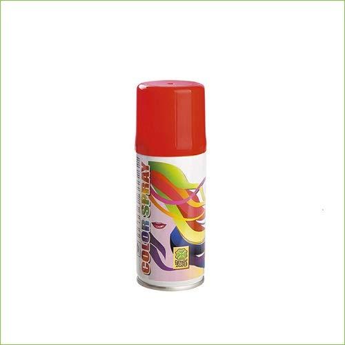 Palucart 1 bomboletta Spray Colore Capelli temporaneo Rosso colora i Tuoi Capelli per Feste Party Bambini e Ragazzi lacca Colorata Rossa