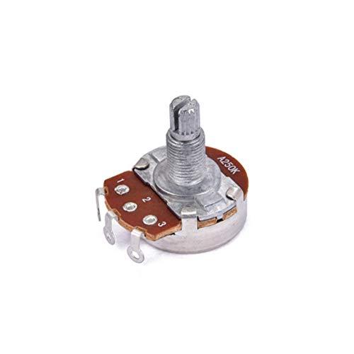 Healifty A250k Long Knurled Split Shaft Bajo eléctrico Volumen y potenciómetros de...