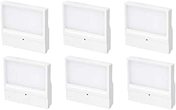 6-Pack Amazon Basics Dimmable LED Plug-in Night Light with Sensor