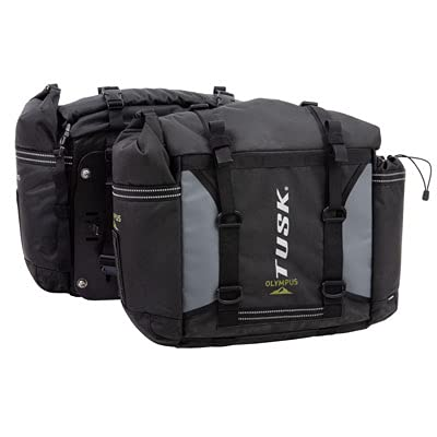 Tusk OLYMPUS Dual Sport Adventure Motorcycle Pannier Bags - Includes neck gaiter (With Mounts For Tusk Pannier Racks)
