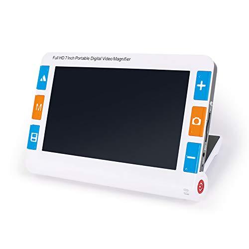 WNZL 7,0 Zoll Mobile elektronische Lesehilfe Digitale Videolupe für Sehbehinderte - Tragbare ideale Hilfe für Sehbehinderte