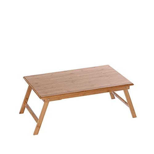 DBL Table pliante, Table pour ordinateur portable, Table de nuit, Table de bureau, Bureau, Table à manger, Bureau, Multi-fonctions, Canapé, Extérieur, Terrasse, Bambou Table pliable