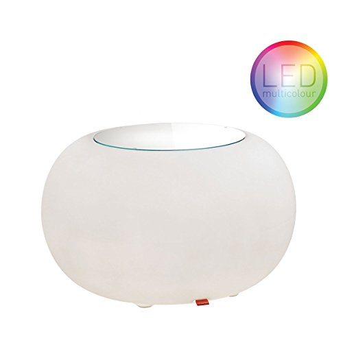 Moree Bubble LED Accu Outdoor - Table d'appoint opalin/avec fonction changement des couleurs/desserte de Ø40cm