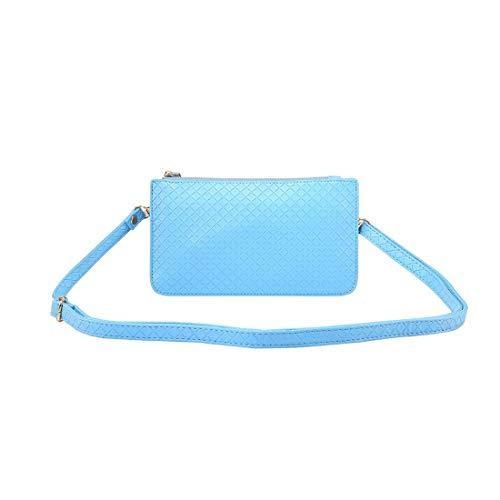 Mobiel Protcetive Bags Lederen polsbandje Clutch Crossbody tas, mobiele telefoon portemonnee, Clutch Wallet for Women (Color : Blue)