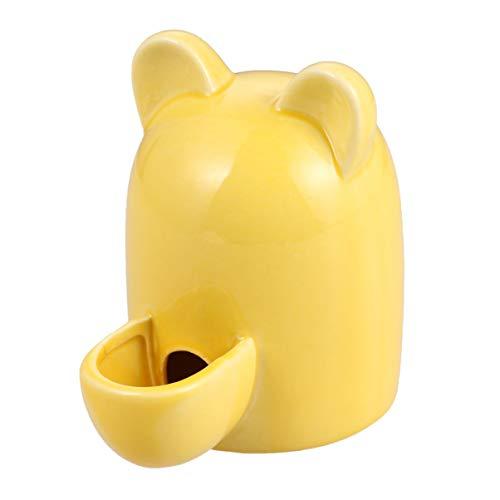 POPETPOP Botella de Agua de Hámster Cuenco de Bebida de Cuy Botella de Alimentación Cerámica Silenciosa Bebedero Automático para Pequeñas Mascotas Pájaro Erizo Chinchilla Hurón - 100Ml