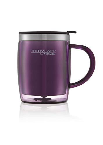 ThermoCafé Thermobecher, Kunststoff und Edelstahl, 450ml, Plastik Edelstahl, violett, 0.45L
