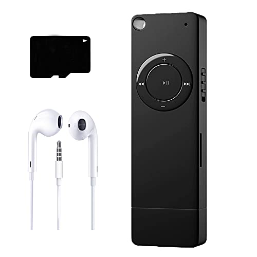 MP3 Player, Music Player with 8GB Micro SD Card, Built-in Speaker, Ultra Slim Music Player, Portable HiFi Lossless Sound, Support up to 64GB (Black)