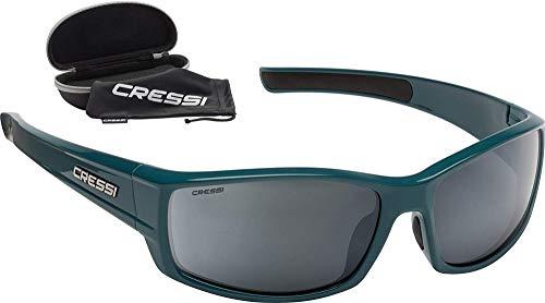Cressi Hunter Sunglasses Gafas de Sol Deportivo, Adultos Unisex, Petróleo/Lentes Espejadas Plata, Talla única