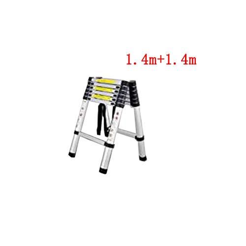 ZPWSNH telescopische ladder huishoudklapladder opstap- en valtechniek draagbare aluminium verdikking van de Herringbones opstapkruk