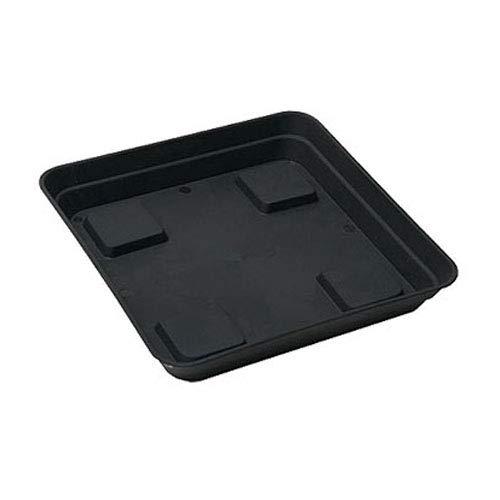 Plato / Platillo cuadrado negro para macetas cuadradas (15x15cm)