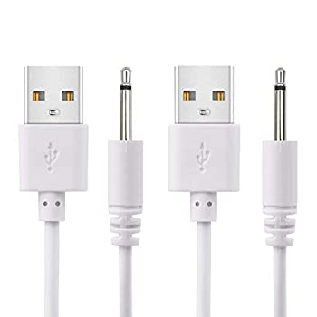 2 Pack 2.7ft Replacement DC Charging Cable USB to DC 2.5mm Fast Charger Cord Adapter - 2.5mm  This is NOT Barrel Jack