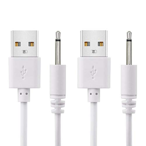 2 Pack 2.7ft Replacement DC Charging Cable, USB to DC 2.5mm Fast Charger Cord Adapter - 2.5mm (This is NOT Barrel Jack)