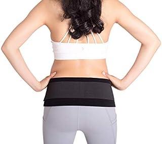 Babybellyband Sport Pregnancy Maternity Belt Abdominal Hip Back Support Black (Medium 8-10 fits waist 40-45