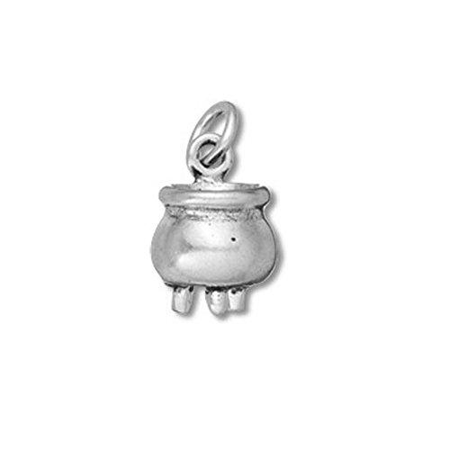 Sterling Silver 3D Cauldron Charm Item #40442