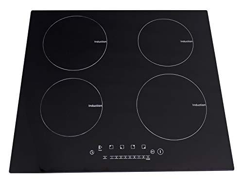 Supra 4Q-IN Parrilla de Inducción Magnética, color Negro, 4 Quemadores