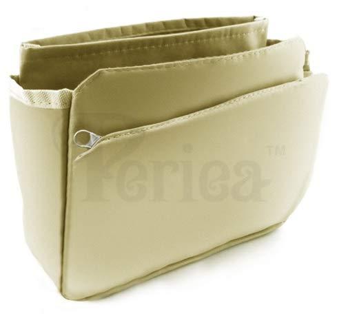 Periea 'Tegan' Handtaschen-Organizer-Einsatz - Ideal für kleine Handtaschen - 9 Taschen (Hellbraun)