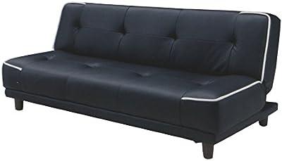 ソファーベッド ソファベッド ソファーベット シングル 2人掛け 3人掛け 4人掛け コンパクト 折りたたみ 合皮 レザー/sb-zeo-1 ブラック