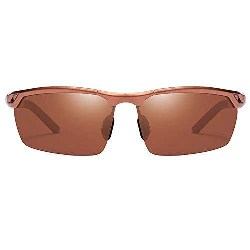 Raxinbang Gafas de Sol Gafas De Sol De Conducción for Exteriores con Gafas De Sol Polarizadas UV400 Polarizadas De Aluminio Y Magnesio for Hombre Lentes De Color Marrón