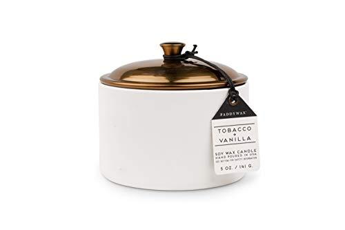 Paddywax Alpine Collection - Vela perfumada de Cera de SOYA, Tobacco/Vanilla, 141.7 Gramos, 1, 1