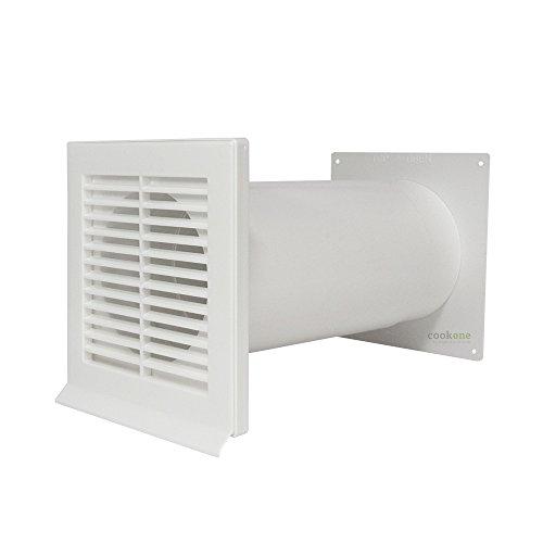 EASYTEC® Mauerkasten Ø 150 mm weiß mit Teleskoprohr und Rückstauklappe