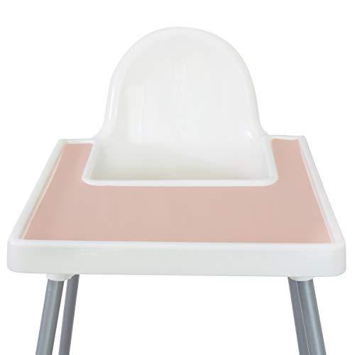 Mantel individual de silicona para silla alta IKEA Antilop sin BPA (crema Vanilla)