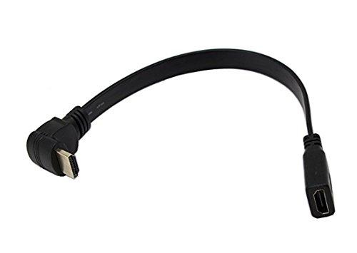 Cavo di prolunga HDMI femmina - Micro HDMI maschio angolata a 90°