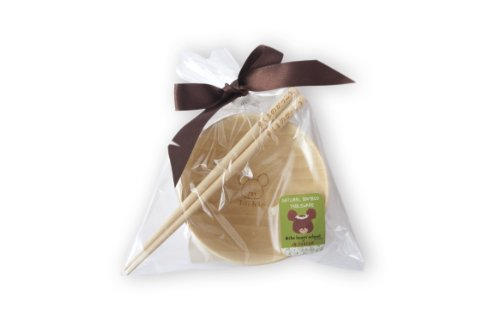School Jackie Rice set bamboo tableware FUNFAM Bear (japan import)
