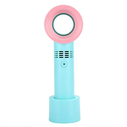 Ventilador portátil, mini ventilador de mano recargable USB, silencioso ventilador de mano sin aspas con batería grande incorporada de 2000 mAh, bajo nivel de ruido, para el hogar/exterior(Verde)
