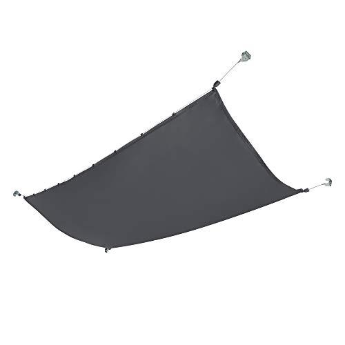 [en.casa] Seilspannmarkise Sonnensegel Wasserabweisende Beschichtung Beschattung Sichtschutz 140x420 cm Dunkelgrau