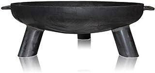 Feuerschale Daytona Stahl – Feuerstelle für Draußen: Terrasse Garten Balkon - Design-Schale mit Griffen Hochwertig rund mit 3 Füßen für gemütliche Feuer