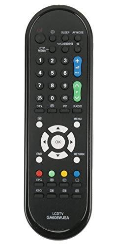 ALLIMITY GA608WJSA Telecomando Sostituisci per Sharp Aquos TV LC-19D1E LC-24LE210E LC-24LE220E LC-19D1E-BK LC-19D1E-WH LC-32DH500E LC-32LE220E LC-32LS220E LC-32DH500S
