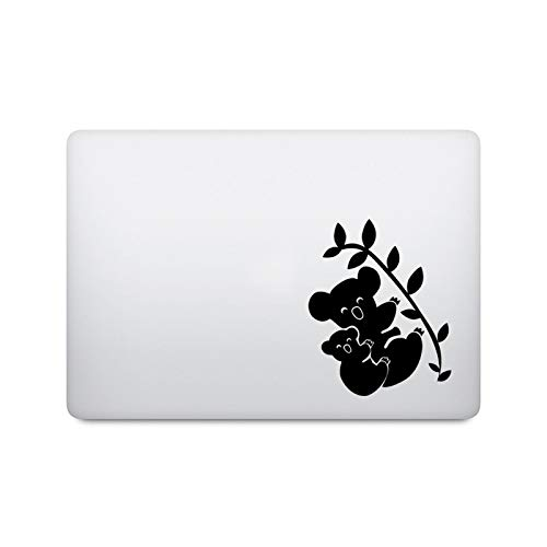 Cute Sleeping Koala Laptop Sticker for Macbook Pro 16' Air Retina 11 12 13 15 inch Mac Book Skin Vinyl 14' Lenovo Notebook Decal-Black Decal-Other 17 inch Laptop