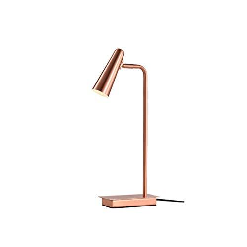 kerryshop Lámparas Estudio nórdico Lámpara de Escritorio Dormitorio Lámpara de cabecera Lámpara de Mesa Europea Simple Lámpara de Mesa (Color : Pink)