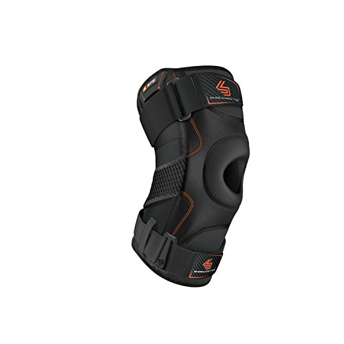 Shock Doctor Knee Support with Dual Hinges (Black, Large)