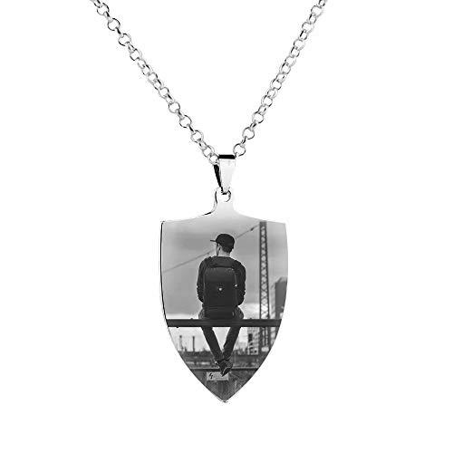 Collar del día de la madre Collar del día del padre Foto y nombre Collar personalizado...