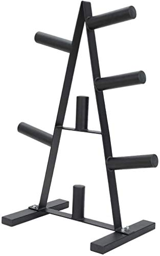 Olympic Weight Plate Rack, A Frame Weight Plate Tree 2 inch for Bumper Plates Free Weight Stand Metal Steel Home Workout Dumbbell Rack Storage Stand