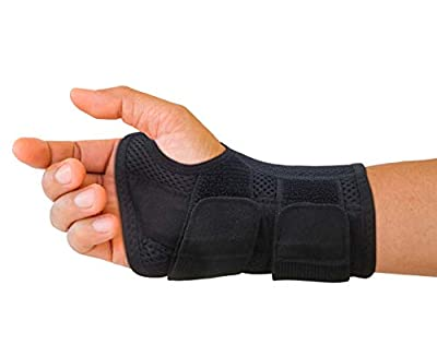 Carpal Tunnel Wrist Brace for Men and Women - Day and Night Therapy Support Splint for Relief of Arthritis, Wrists, Arm, Thumb and Hand Pain - Adjustable Straps (Right Hand - Small-Medium)