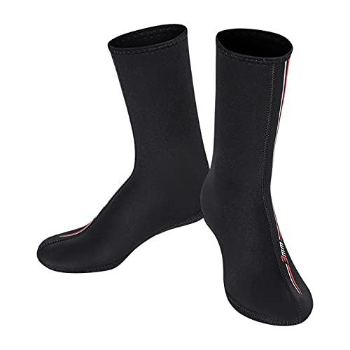 TOOYFUL 3mm Neoprene Waterproof Socks, Beach Volleyball Sand Proof Socks, Wetsuit Snorkel Socks Keep Warm for Men Women - L