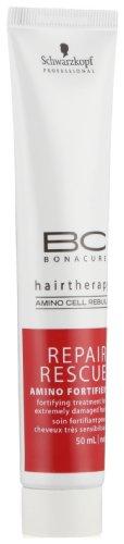 Schwarzkopf Professional Traitement Fortifiant pour Cheveux Très Sensibilisés Repair Rescue Hairtherapy BC à l'Amino Cell Rebuild 50ml