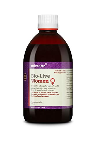 Microbz Bio-Live for Women (475ml) Bio Cultures Probiotic Liquid Supplement - Multi Strain Fermented Liquid Formula with Bio Live Active Natural Cultures for Everyday Oral Use (Single)
