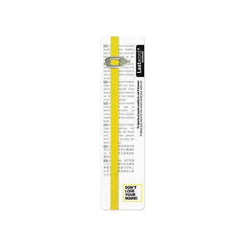 Lastword Bookmarks  Elastic bookmark Perfect for Any Book  book markers for women  bookmarks for men  bookmarks for kids  Don#039t Lose Your Mark Design Made in Italy book marks Yellow
