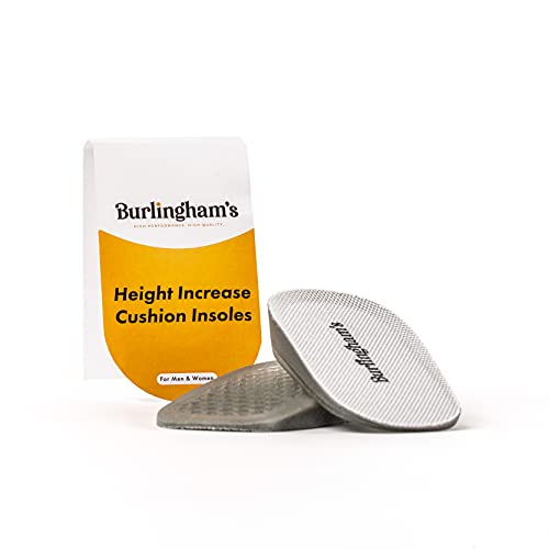 Burlingham's Invisible Heel Lift Inserts for Women - Comfortable Non Slip Height Increase Insole for...