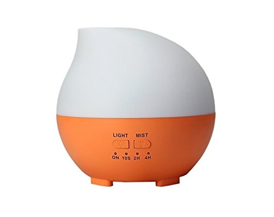 枯れる家禽つぶすLIBESON 加湿器 卓上 超音波 静音大容量 アロマディフューザー コンセント差し込み式 ムードランプ シンプル ホイップ型 オレンジ