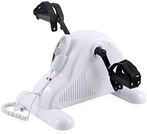 Bicicleta estática RRB para Entrenamiento de rehabilitación / Entrenamiento de Brazos y piernas Mini Equipo de Fitness portátil con Pantalla LCD Blanca